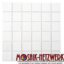 Mosaik Fliese Keramik weiß matt Fliesenspiegel Küche Pool  16B-0111_f 10 Matten