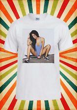 Sexy Skater Skate Board Girl Novelty Men Women Vest Tank Top Unisex T Shirt 1373