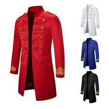 Mens Military Tailcoat Suit Jacket Tuxedo Fancy Dress Victorian Frock Coat