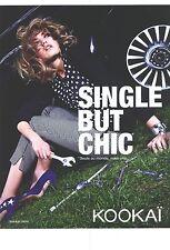"""PUBLICITE  2012   KOOKAI pret à porter """" single but chic """""""