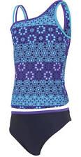 Zoggs tribal mosaïque filles tankini 2 piece maillot de bain top & short