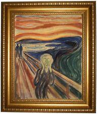 Munch The Scream 1910 Framed Canvas Print Repro 16x20