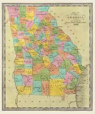 Old State Map - Georgia - Burr 1835 - 23 x 27.44