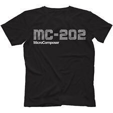 MC-202 T-shirt 100% COTONE Sintetizzatore Analogico 303 Sh-101 microcomposer
