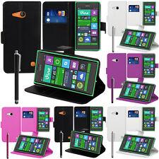 Schutzhülle für Nokia Lumia 735/ 730 Dual Sim Handy Brieftasche Flip Case Cover