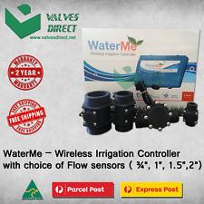 "WaterMe-Wireless Irrigation Controller + Choice of Flow Sensor(3/4"",1"",1.5"",2"")"