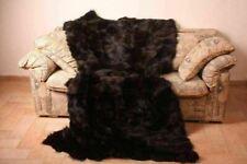 Dark Brown Fox Fur Blanket Bedspread
