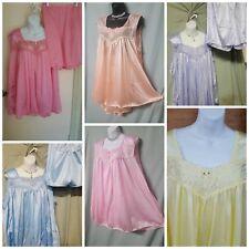 Comfort Choice Babydoll Sleeveless Short Pajamas Gift Sz  M L 1X  2X  3X 4X  5X