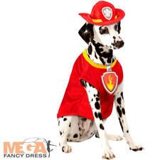 Marshall Dog Fancy Dress Paw Patrol TV Cartoon Animal Firefighter Pets Costume