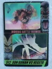 JAPAN DRAGONBALL x MORINAGA Sushuu 3D Card SON GOHAN vs VEGETA DXMV-49-512