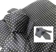 CRAVATTA BLU a POIS GIALLI ITALY SETA TOP silk cravatte a pallini puntini GIALLI