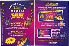 PUBBLICITA' ADVERTISING WERBUNG DISNEY VIDEO FAN LA BELLA E LA BESTIA