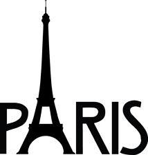 Paris Eiffel Tower Decal Paris France Window Bumper Sticker Car Decor