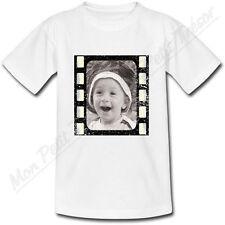 T-shirt Adulte Cadre Photo Péllicule avec photo personnalisé sépia noir et blanc