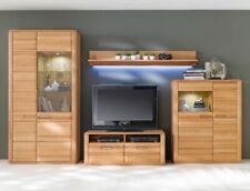 Wohnwand Kernbuche teilmassiv 4-teilig Medienwand TV-Wand Wohnzimmer Senta 23