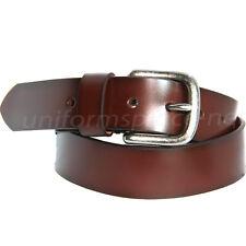 """Levis Leather Belt Men 1 1/2"""" Brown Belt Antique nickel harness buckle 11LV02PP"""