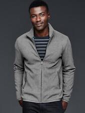 NWT GAP Mens Fleece Zip Gray Mock Turtleneck Jacket Coat Pockets M XL $45 NEW