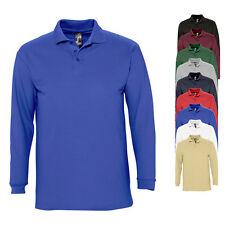 Sols Herren Polohemd WINTER II Polo Shirt Langarmshirt S M L XL XXL 3XL Neu L549