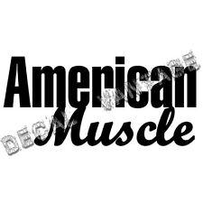 American Muscle Text Vinyl Sticker Decal Drag Car Race Drift Choose Size & Color