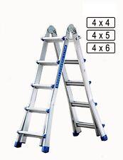 Leiter Klappleiter 4 x 4/5/6  Teleskopleiter Anlegeleiter Multifunktionsleiter
