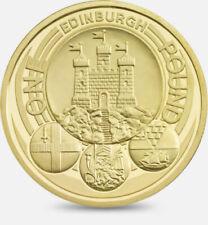£1 pound coins,capital,floral,Edinburgh,London,Belfast