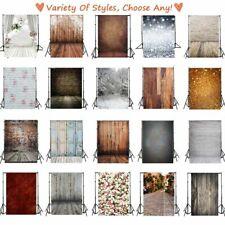 5x7ft/3x5ft Vinyl Plank Flash Photo Background Floral Backdrops Studio Props CA