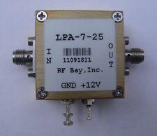 RF Bay 100KHz - 7000MHz RF Amplifier, LPA-7-25, New, SMA