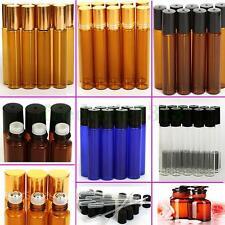 1pc~20pcs 10ml Roll on Glass Bottle Essential Oil Perfume Roller Ball Bottle New