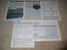 Harman Kardon Citation 25 Preamp Review, 5 pg, 1989, Full Test, Specs, Info