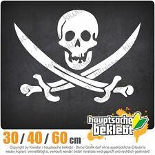Piraten Schädel chf0472  in 3 Größen JDM  Heckscheibe Aufkleber