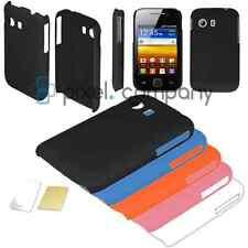 % HARD CASE COVER Schutzhülle Hülle Etui für Samsung Galaxy Y GT-5360 Folie