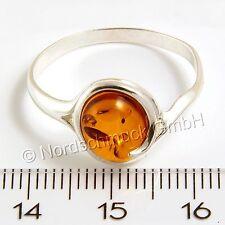 Bernstein Ring Bernsteinring massiv 925er Silber kleine große Größen 48-64 K252
