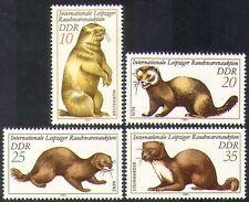 Germania 1982 Marmot/Beige/MARTEN/PUZZOLA/pelliccia/Animali/NATURA/vestiti 4 V (n37247)