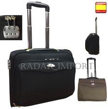 Maletin maleta con Ruedas Para Portatil + compartimiento comercial piloto medico
