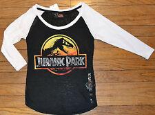 Jurassic Park Juniors 3/4 Length Sleeve Top Officially Licensed T-Shirt Tee