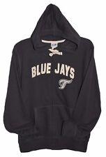 Toronto BLUE JAYS MLB MAJESTIC HOODIE JACKET w VINTAGE Patch Womens XL 2XL