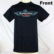 Original Ford Thunderbird Neon Sign Logo Muscle US Car T- Shirt Schwarz NEU