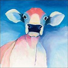 tillmon Avery: Bella blu immagine Telaio incastro TELA MUCCA Colorato Animali