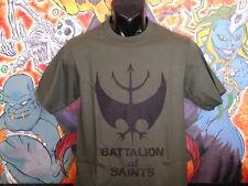 """Battalion of Saints """"Logo"""" Shirt Black Flag  Punk DRI Void Poison Idea Misfits"""
