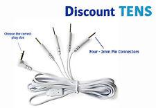 TENS Lead Wires - Port Doubler - Four 2mm Pin Connectors -  Quantity: 2