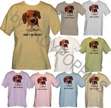 1-DON'T BE NOSEY BEAGLE DOG FUN ANIMAL APPAREL WEAR GRAPHIC PRINTED T-SHIRT TEE