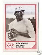 RARE 1983 Jogo CFL QB'S ROY DEWALT BC LIONS