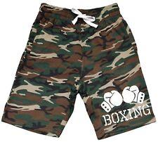 Men's Boxing Gloves Fleece Camo Shorts Sweatpants Fitness MMA Fight Jogger V434