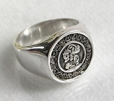 925 ECHT SILBER *** Massiver Ring Siegelring Maya Kalender Größenauswahl