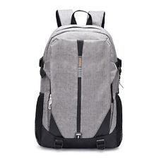 New Polyester Big Backpacks Shoolbag Shoulder Bags Daypacks Grey Laptop Bag