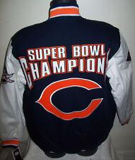 CHICAGO BEARS Super Bowl XX CHAMPIONSHIP Cotton Jacket Sewn Logos M L XL style 3