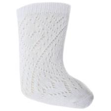 Spanish Style Baby Girl Pelerine White Knee High Socks - 0-24 Months.
