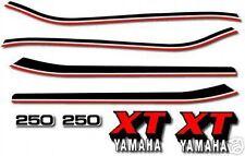 1980 YAMAHA XT250 CLEAN WHITE TANK MODEL DECAL / GRAPHICS KIT (see pics)