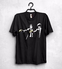 Pulp fiction classique scène t shirt top funny Banana guns vincent jules travolta