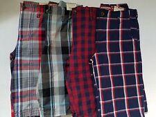 Arizona  Boys Plaid Chino Shorts Various Sizes from  Reg 6-20 / Husky NWT